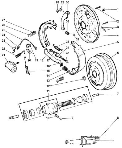 Mopar 05018554AA Parking Brake Adjuster Spring