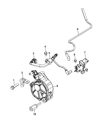 2011 Jeep Grand Cherokee Vacuum Pump / Vacuum Harness Diagram