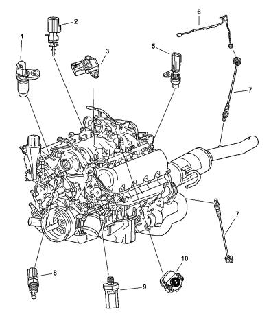 2003 Dodge Durango Sensors Engine Mopar Parts Giant