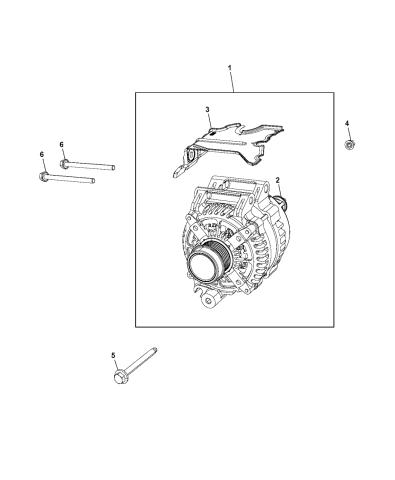 56029740aa Genuine Mopar Generator Engine