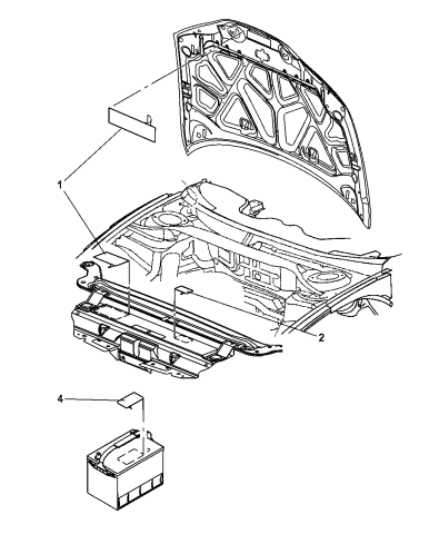 2003 Chrysler 300m Engine Compartment Mopar Parts Giant
