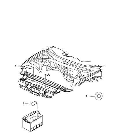 Engine Compartment - 2013 Dodge Journey | 2013 Dodge Journey Engine Diagram |  | Mopar Parts Giant
