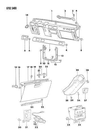 [SCHEMATICS_43NM]  1989 Dodge Raider Instrument Panel - Mopar Parts Giant | 1989 Dodge Raider Wiring Diagram |  | Mopar Parts Giant