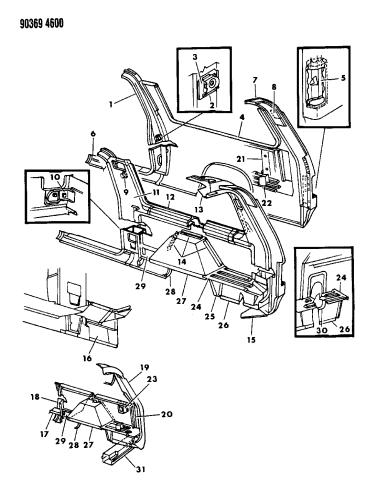 1991 Dodge D250 Body Panels Mopar Parts Giant
