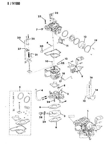 Carburetor & Component Parts - 1990 Jeep WranglerMopar Parts Giant
