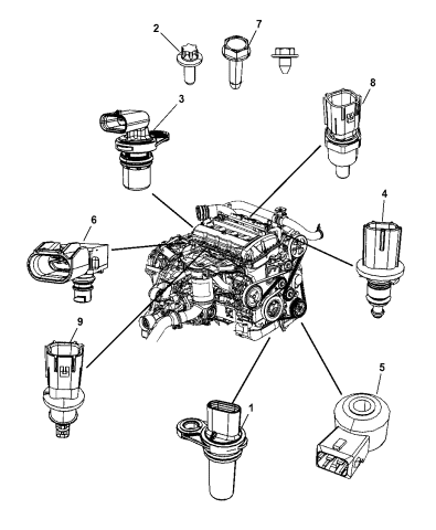 [DIAGRAM_5NL]  2007 Dodge Caliber Sensors - Engine - Mopar Parts Giant | 2007 Dodge Caliber Engine Diagram |  | Mopar Parts Giant
