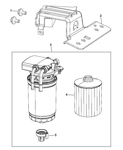 2014 Dodge Grand Caravan Fuel Filter & Fuel/Water SeparatorMopar Parts Giant