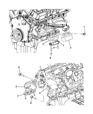 4578049aa - genuine mopar bracket-engine mount  mopar parts giant
