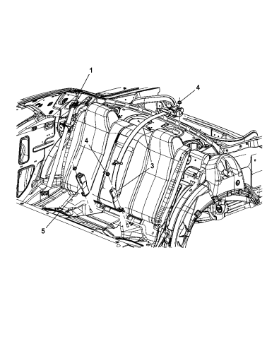 2008 Dodge Challenger Seat Belt Rear Diagram