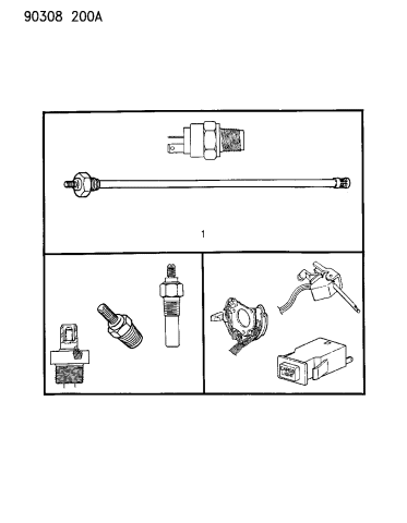 1992 Dodge D350 Switches Diagram