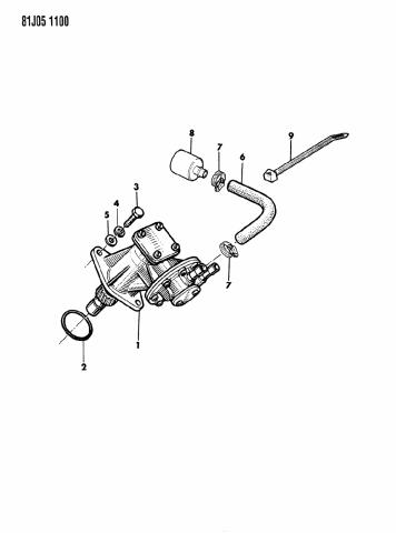 1986 Jeep Cherokee Vacuum Pump Power Brakes Mopar Parts Giant