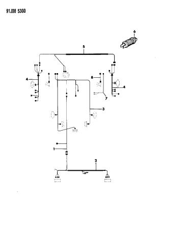 1992 jeep comanche wiring  body  accessories