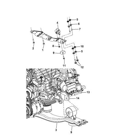 Engines & Components For 2008-2014 Dodge Avenger Engine Mount ...