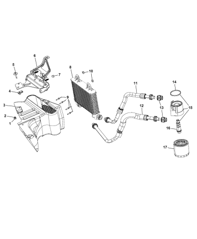 4884899AB - Genuine Mopar FILTER-ENGINE OILMopar Parts Giant