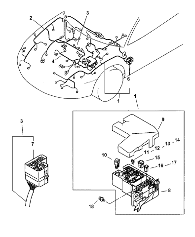 Wiring - Engine Room Harness - 2005 Dodge Stratus CoupeMopar Parts Giant