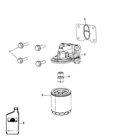 2012 Dodge Caliber Engine Oil Filter Adapter