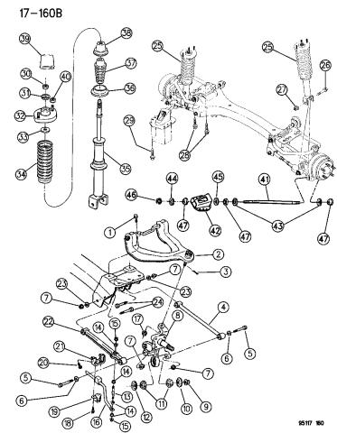 Suspension - Rear - 1995 Chrysler CirrusMopar Parts Giant