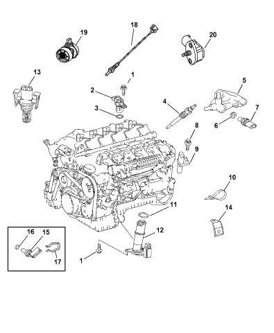 Sensors - Engine - 2005 Dodge Sprinter 2500Mopar Parts Giant