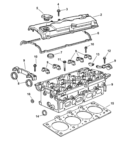 2005 Jeep Liberty Cylinder Head Mopar Parts Giant