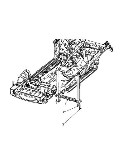 2007 Dodge Nitro Crossmember Transmission Support