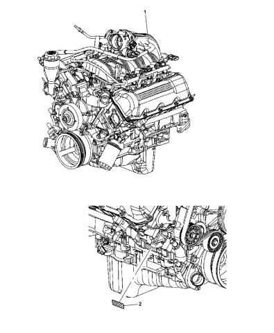 2008 Jeep Liberty Engine Assembly & Identification