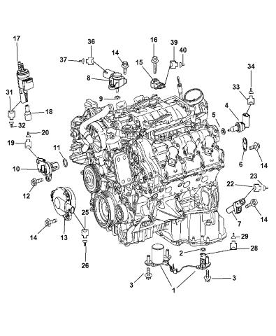 5175760aa - genuine mopar sensor-oil level  mopar parts giant