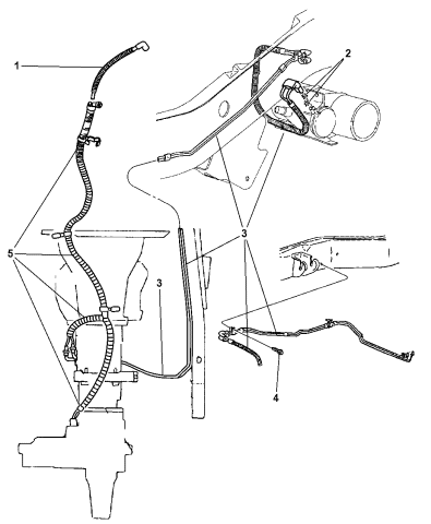 1997 Dodge Ram 1500 Vacuum Lines Front Axle Transfer Case