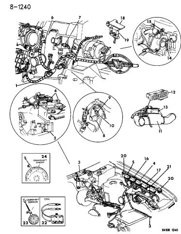 1994 Dodge Caravan Wiring Engine Related Parts