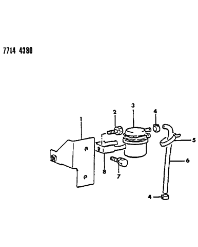 1987 dodge ram 50 fuel filter - mopar parts giant  mopar parts giant