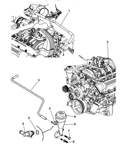 2007 jeep grand cherokee crankcase ventilation  mopar parts giant