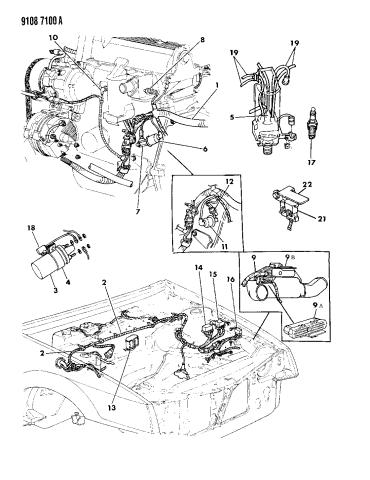 1989 Chrysler LeBaron GTC Wiring - Engine - Front End & Related PartsMopar Parts Giant
