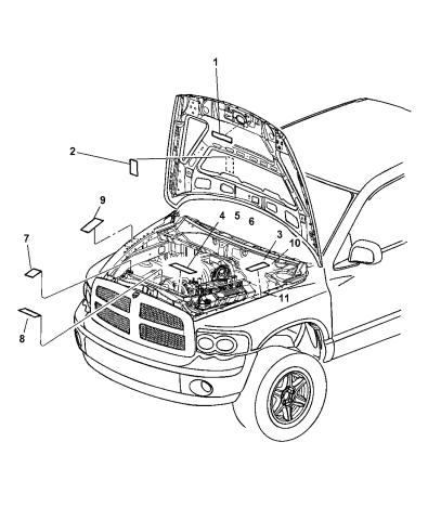 2005 Dodge Ram 1500 Engine Compartment - Mopar Parts GiantMopar Parts Giant