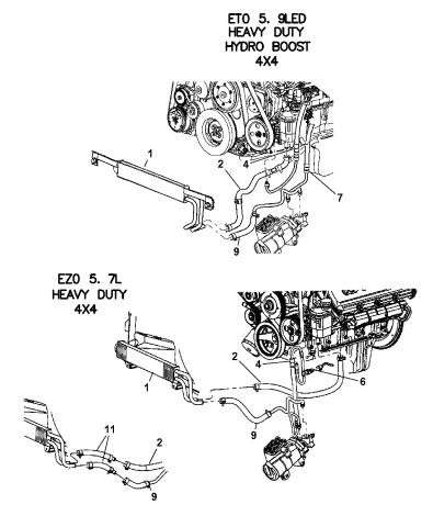 52113927AC - Genuine Mopar LINE-POWER STEERING PRESSUREMopar Parts Giant