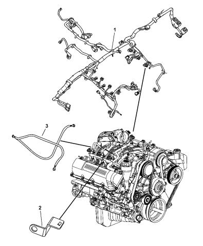 4801261ab Genuine Mopar Wiring Engine, 2006 Jeep Liberty Wiring Diagram
