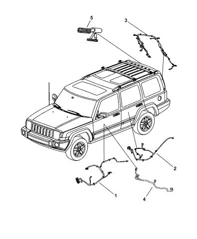 wiring - doors & liftgate - 2007 jeep commander  mopar parts giant