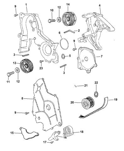 2003 Chrysler 300m Timing Belt Chain Cover Mopar Parts Giant