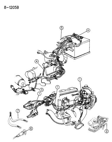 1995 Dodge Intrepid Wiring Engine Related Parts