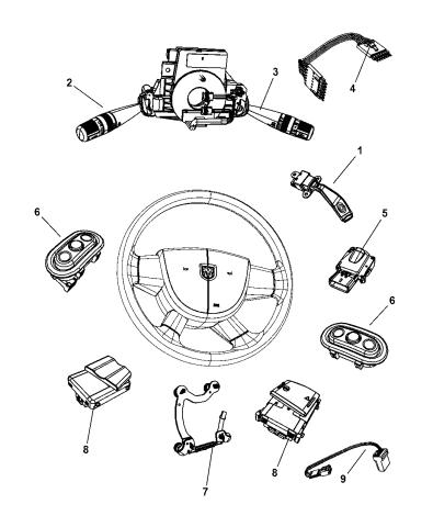 [SCHEMATICS_49CH]  68020375AB - Genuine Mopar WIRING-STEERING WHEEL | Dodge Intrepid Steering Column Wiring |  | Mopar Parts Giant