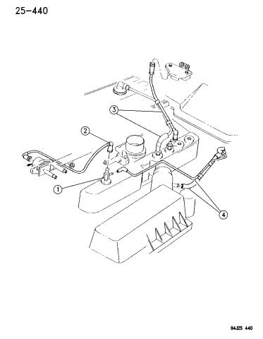 1995 Jeep Cherokee Emission Control Vacuum Harness