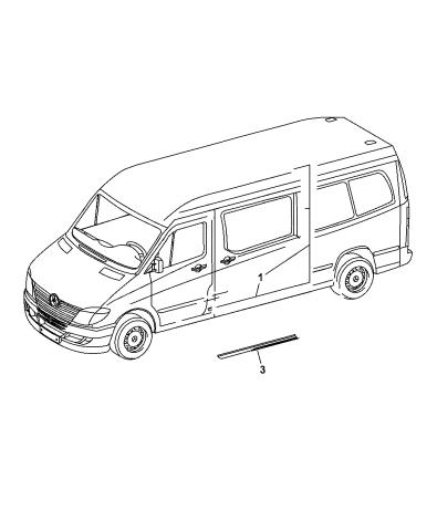 2007 Dodge Sprinter 2500 Sliding Door Wiring Harness