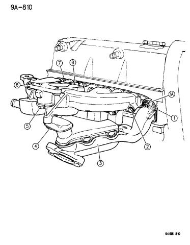 1994 Dodge Grand Caravan Manifolds Intake Exhaust