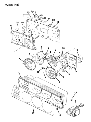 1985 Jeep J20 Instrument Cluster Mopar Parts Giant