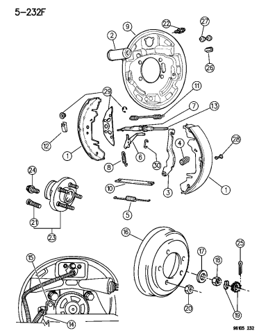 Drum Brake Wheel Cylinder For 2000-2002 Chrysler Grand Voyager; Drum Brake Whee