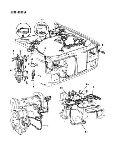 1986 Dodge Charger Wiring - Engine - Front End & Related PartsMopar Parts Giant