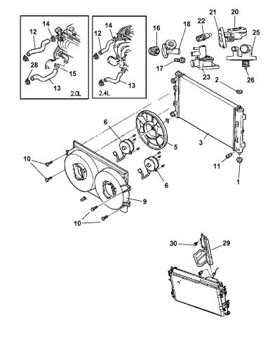 [DIAGRAM_38ZD]  55116901AA - Genuine Mopar CAP-RADIATOR | 2002 Sebring Engine Diagram Radiator |  | Mopar Parts Giant