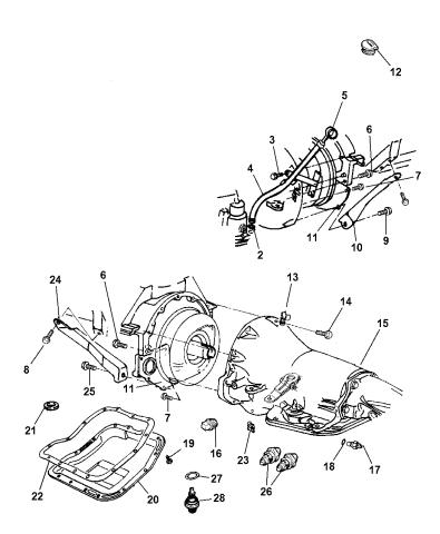 Case & Related Parts of Automatic Transmission - 2001 Dodge Ram 1500  Regular CabMopar Parts Giant