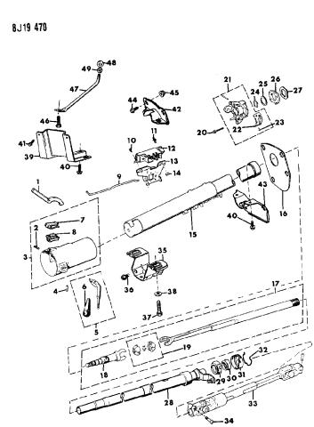 1990 Jeep Wrangler Housing Steering Column Lower