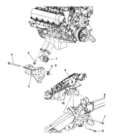 2004 dodge durango engine mounting, front - mopar parts giant  mopar parts giant