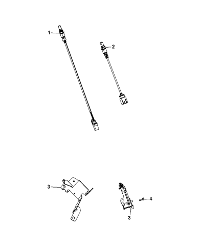 Oxygen Sensor Right Mopar 68087364AA