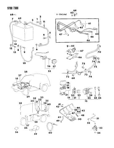 [DIAGRAM_5LK]  MF243624 - Genuine Mopar BOLT | 1989 Dodge Raider Wiring Diagram |  | Mopar Parts Giant